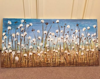 18x36 cotton field painting