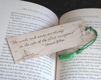 Sailing Bookmark - Wood Pyrography - Sailing Quote