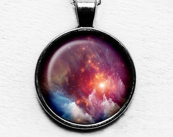 NASA Photograph Nebula-Red Beauty Pendant & Necklace