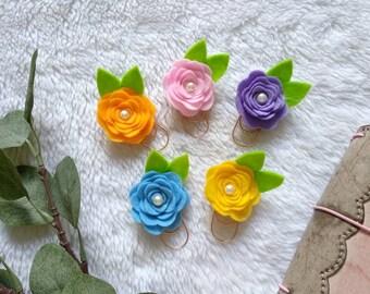 P005 paperclip rose felt