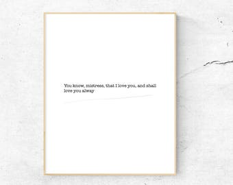 Declaration Of Love Valentine Print