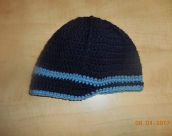 Baby boy crocheted hat