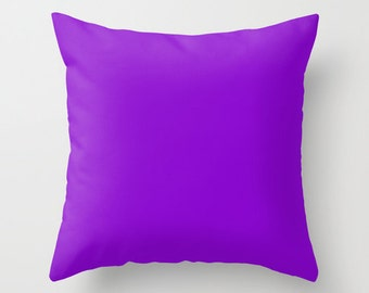 French Violet Pillow, #8806CE, Solid Purple Throw Pillow, Solid Purple Pillow, Purple Pillow, Minimalist Decor, Minimalist Pillow