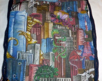 Monsters attack - Oh No, Tokyo Backpack/tote Custom Print