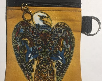 Eagle Coin/Keychain pouch. Free Shipping
