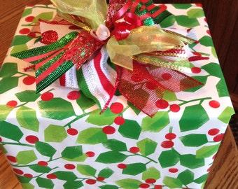 Whimsical Christmas Gift Bow