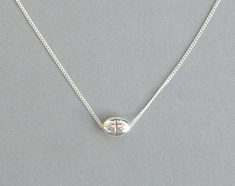 Oval Cross Bead Necklace