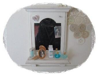 Dollhouse Bathroom shelf, shabby chic