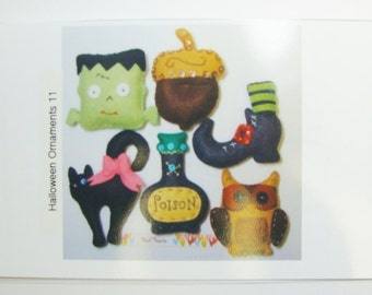 Halloween PDF Instant Download Ornaments Pattern- Set of (11)