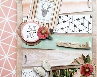 """Card """"Scandinavian spirit"""" made with love"""