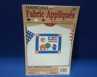 Iron-on Fabric Applique Kit- American Sampler