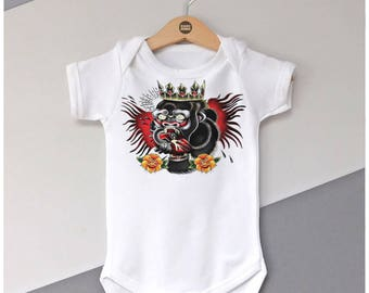 Conor McGregor The Notorious UFC Chest Piece Tattoo Baby Grow / Vest Boys 0-3 | 3-6 | 6-9 | 9-12 months