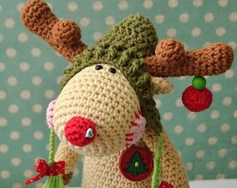 Crochet pattern - Christmas Reindeer by VendulkaM - amigurumi/ crochet toy, digital pattern, DIY, pdf