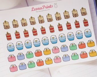 Candle Planner Stickers | Stationery for Erin Condren, Filofax, Kikki K and scrapbooking