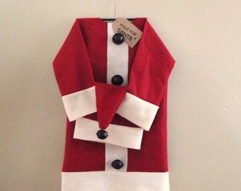 Santa Suit pattern, christmas decor, Primitive country, digital pattern, e pattern, sewing, chris kringle, kris kringle, santa hat pattern