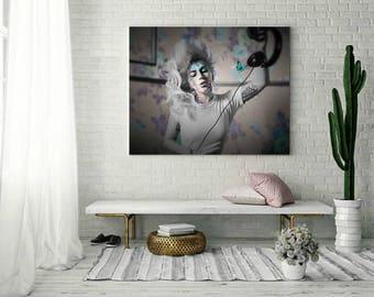 Lady Gaga Floral Art Print or Canvas, Wall Art, Artwork, Gift