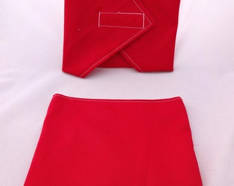 Red Reusable Lunch Duo - Snack Bag and Sandwich Wrap