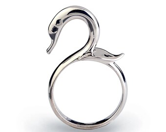 SWAN Ring, Silver Bird Ring, Silver Swan Jewelry, Unique Silver Ring, Silver Statement Ring, Animal Ring, Unique Ring, Symbolic Ring
