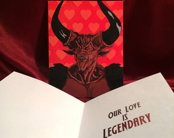 LEGEND Valentine's Day Card with The LORD of DARKNESS