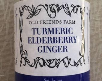 Turmeric Elderberry Ginger, Invigorating Loose-Leaf Tisane