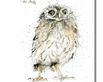 Owl Tea Towel - 100% Cotton, Kitchen Towel, bird gift, owl gift, woodland theme, Housewarming Gift, Birthday Gift