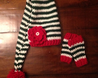 Christmas newborn boy or girl hat