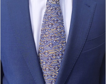 Torsten Tie Liberty Print Tie / Wedding Tie / Groomsman Tie / Mens Cotton Tie / Liberty Print Tie