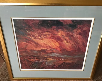 "Marco Sassone ""Tramento"" 1993 - Framed, Signed in Pencil  Print"