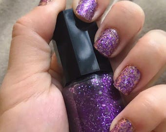 Violet Glitter Nail Polish ~ Grape Jelly