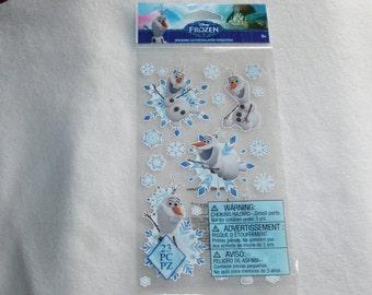 New Disney Frozen Olaf Anna Elsa Snowman Let It Go Scrapbook Stickers Embellishments