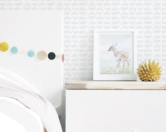 Removable Wallpaper, Self-Adhesive Wallpaper, Peel-and-Stick Wallpaper, Gray, Geometric, Nursery, Kids Décor. Potato Print Wallpaper