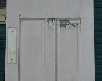 Vintage Pantry Swinging Door/Café/Kitchen Home Remodeling Tools/Bakelite Panel/White Antique Refurbish Eco Friendly Crafting/Household/Used