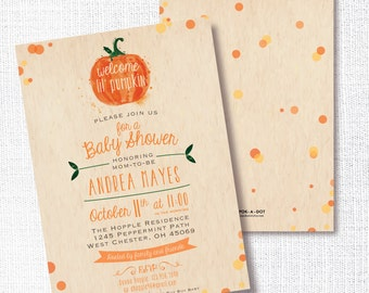 Fall baby shower etsy pumpkin fall baby shower invitation printable little pumpkin invite gender neutral rustic orange confetti sprinkle sip and see filmwisefo