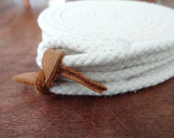 Set of 4 Cotton Rope Coasters!  Housewarming, Hostess Gift, Absorbent, Unbleached, Natural, Fiber, Clothesline
