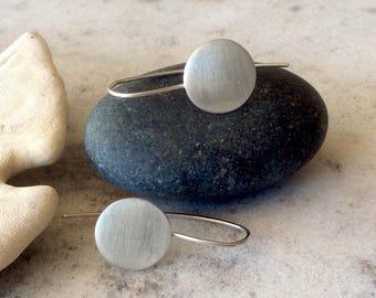 Sterling Silver Minimalist Disk Earrings