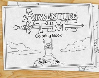 Adventure Time Coloring Book (Finn the Human, Jake the Dog) PDF