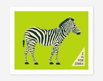 ZEBRA (Giclée Fine Art Print/Photo Print/Poster Print)