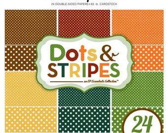 Echo Park Paper DOTS & STRIPES Fall 6x6 Scrapbook Paper Pad (2 Sizes of Dots/No Stripes) DS15040