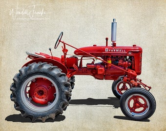 1940 Red International Harvester Tractor E110