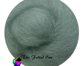 Needle Felting Wool Roving / DR36 Mystic Sage Carded Wool Roving