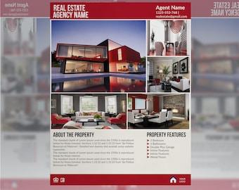 Real Estate Flyer Template | Real Estate Flyer  *Instant Download*