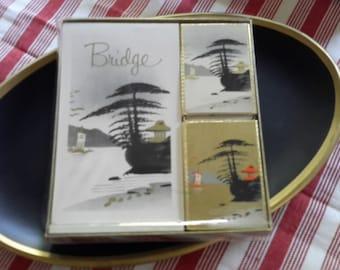 Vintage Bridge Set--Cards and Tallies