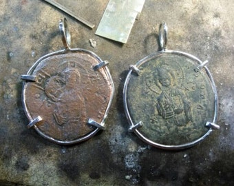 Coin Bezels. Personalized coin Bezels. Coin Jewelry