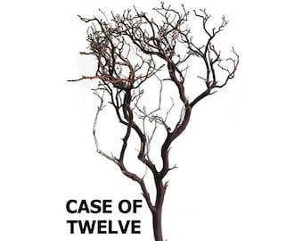 Natural Red Manzanita Branches - 24 inches tall, 12 pieces