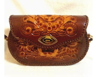 Clifton's Hand Toled Leather Purse