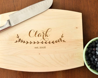 Personalized Engraved Cutting Board, Custom Cutting Board, Personalized Wedding Gift, Housewarming Gift, Anniversary Gift