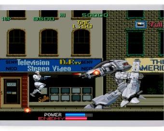 Robocop Arcade Fridge Magnet. ED209 Boss Battle