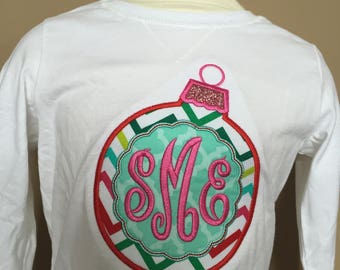 Personalized Split Ornament Holiday Shirt