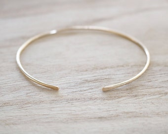 Dainty gold open edge cuff, gold cuff, skinny gold cuff, gold bracelet, cuff, skinny gold cuff, gold filled bracelet, dainty gold bracelet