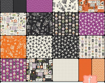Eek Boo Shriek 10 INCH Layer Cake Bundle Stacker - 42 Piece COMPLETE - Carina Gardner - Riley Blake Designs Fabric